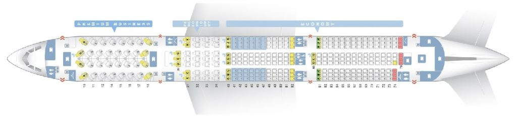 Seat Map and Seating Chart Airbus A350 900XWB China Airlines
