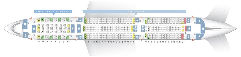 Seat Map and Seating Chart Airbus A350 900XWB Thai Airways