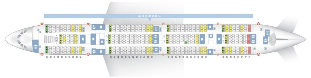 Seat Map and Seating Chart Airbus A380 800 Main Lower Deck THAI Airways