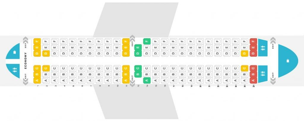 Seat Map and Seating Chart Boeing 737 300 Jet2