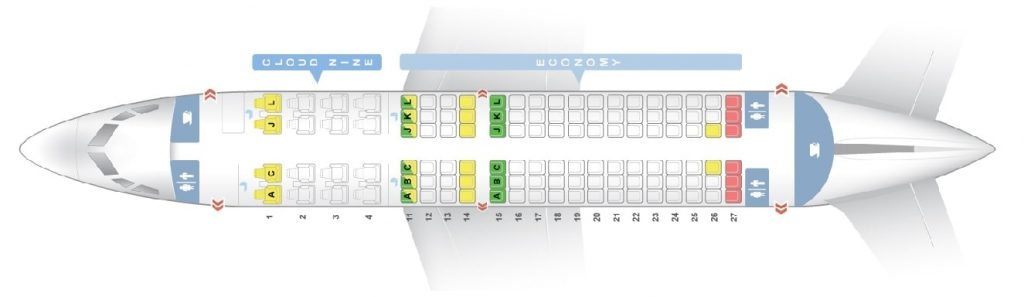 Seat Map and Seating Chart Boeing 737 700 Ethiopian Airlines