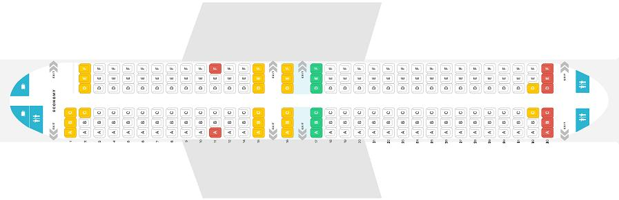Seat Map and Seating Chart Boeing 737 800 Jet2