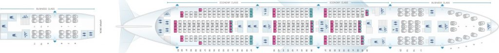 Seat Map and Seating Chart Boeing 747 400 China Airlines