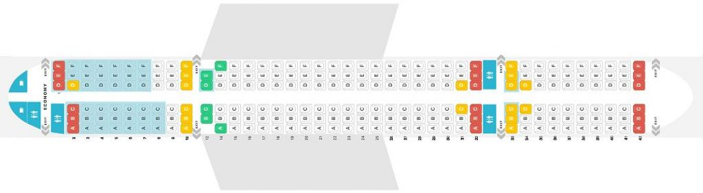 Seat Map and Seating Chart Boeing 757 200 Jet2