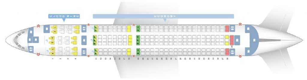Seat Map and Seating Chart Boeing 767 300ER Ethiopian Airlines