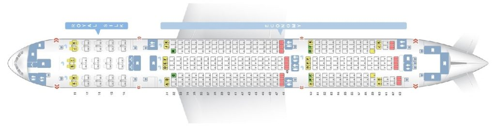 Seat Map and Seating Chart Boeing 777 200 THAI Airways