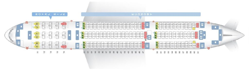 Seat Map and Seating Chart Boeing 777 200ER THAI Airways