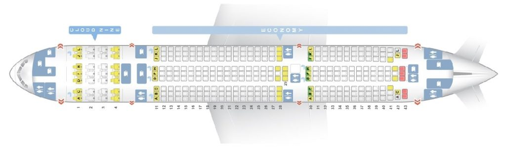 Seat Map and Seating Chart Boeing 777 200LR Ethiopian Airlines