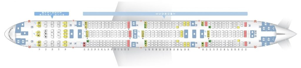 Seat Map and Seating Chart Boeing 777 300 THAI Airways