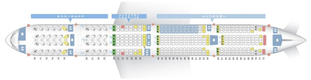 Seat Map and Seating Chart Boeing 777 300ER China Airlines