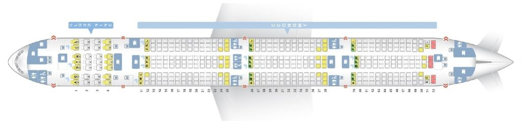 Seat Map and Seating Chart Boeing 777 300ER Ethiopian Airlines