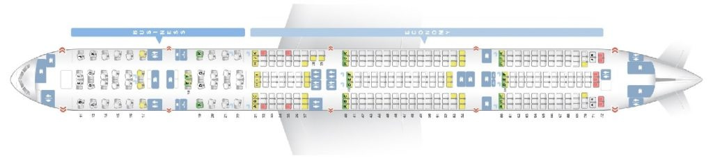 Seat Map and Seating Chart Boeing 777 300ER THAI Airways