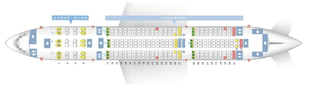 Seat Map and Seating Chart Boeing 787 8 Dreamliner Ethiopian Airlines