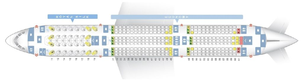 Seat Map and Seating Chart Boeing 787 9 Dreamliner THAI Airways