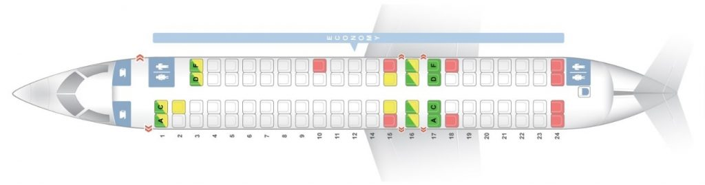 Seat Map and Seating Chart Bombardier CRJ 900 Scandinavian Airlines SAS