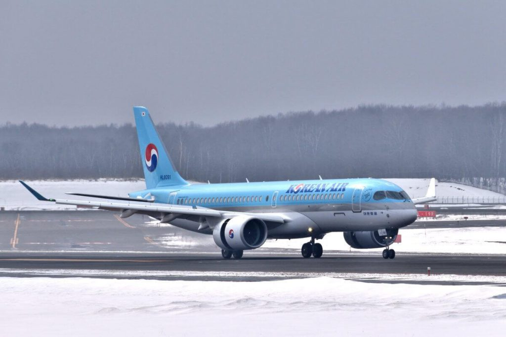 Airbus A220 300 Korean Air HL8091