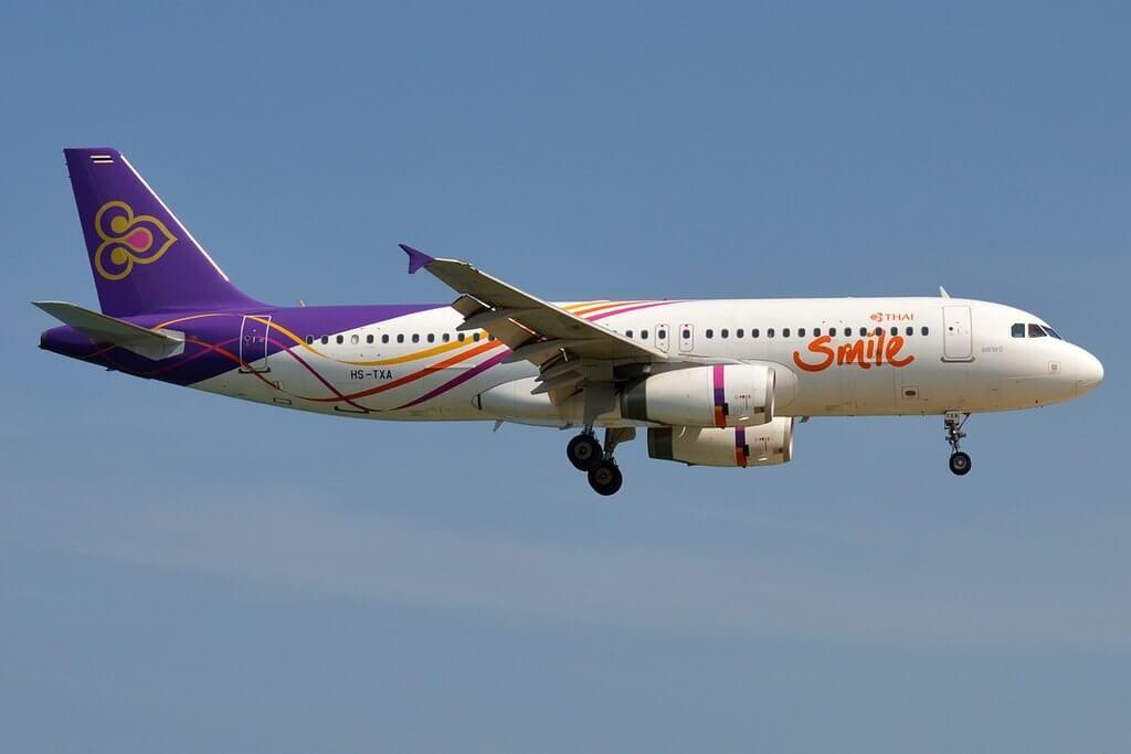 Airbus A320 232 HS TXA THAI Smile Ubon Ratchathani อุบลราชธานี
