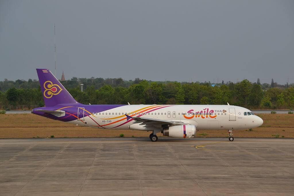 Airbus A320 232 HS TXD THAI Smile Sing Buri สิงห์บุรี at Khon Kaen Airport