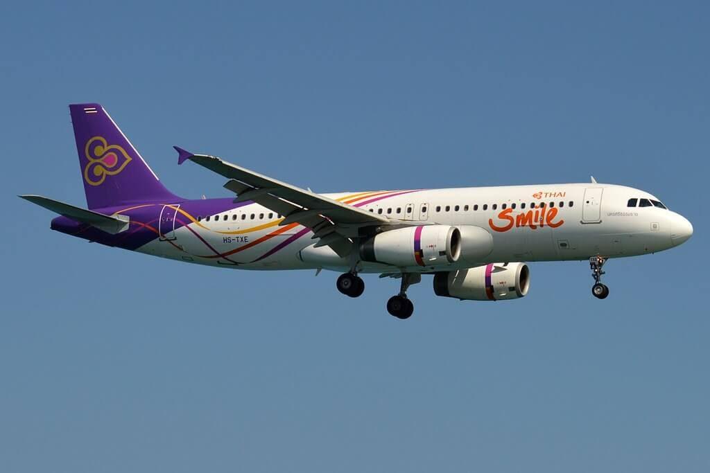 Airbus A320 232 HS TXE THAI Smile Nakhon Si Thammarat นครศรีธรรมราช