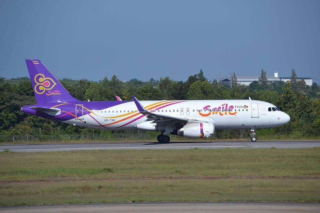 Airbus A320 232WL HS TXK THAI Smile Ranong ระนอง at Khon Kaen Airport