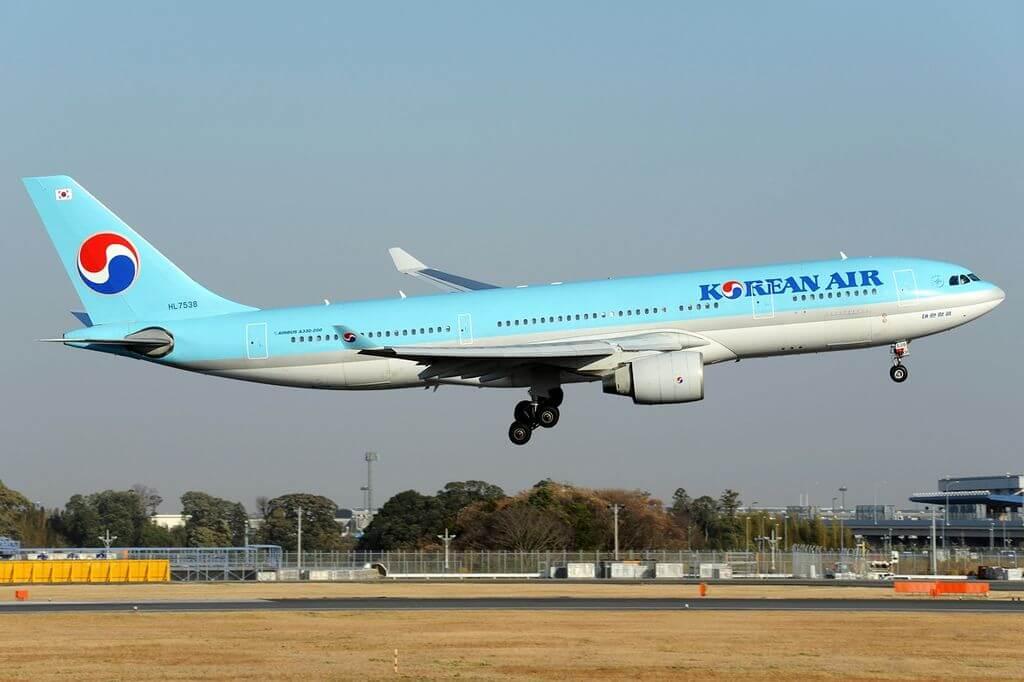 Airbus A330 223 HL7538 Korean Air at Narita International Airport