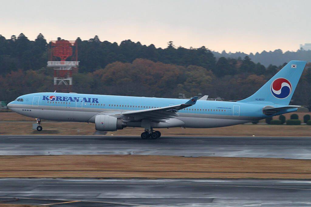 Airbus A330 223 HL8227 Korean Air at Narita International Airport