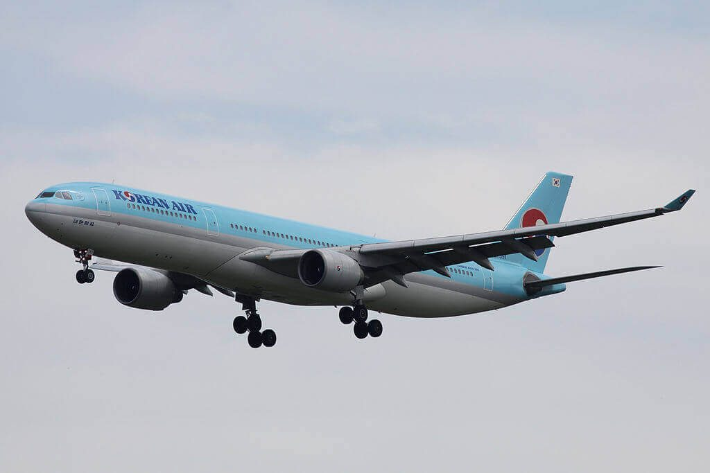 Airbus A330 322 HL7551 Korean Air at Narita International Airport