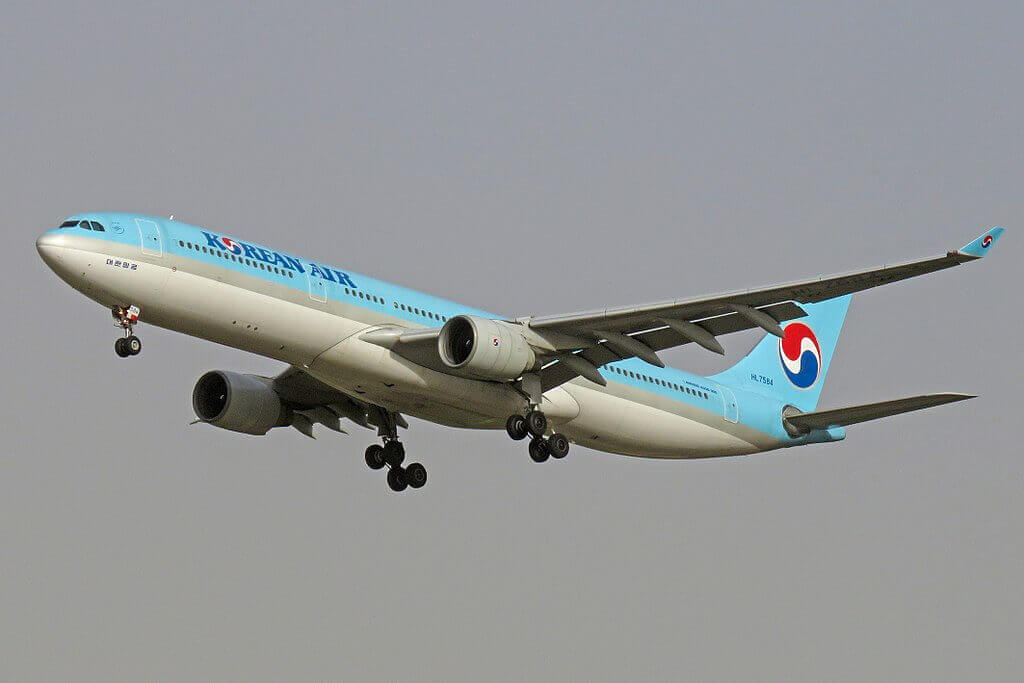 Airbus A330 323 HL7584 Korean Air at Beijing Capital International Airport