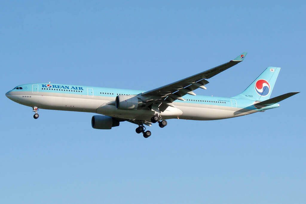 Airbus A330 323 HL7585 Korean Air at Sheremetyevo International Airport
