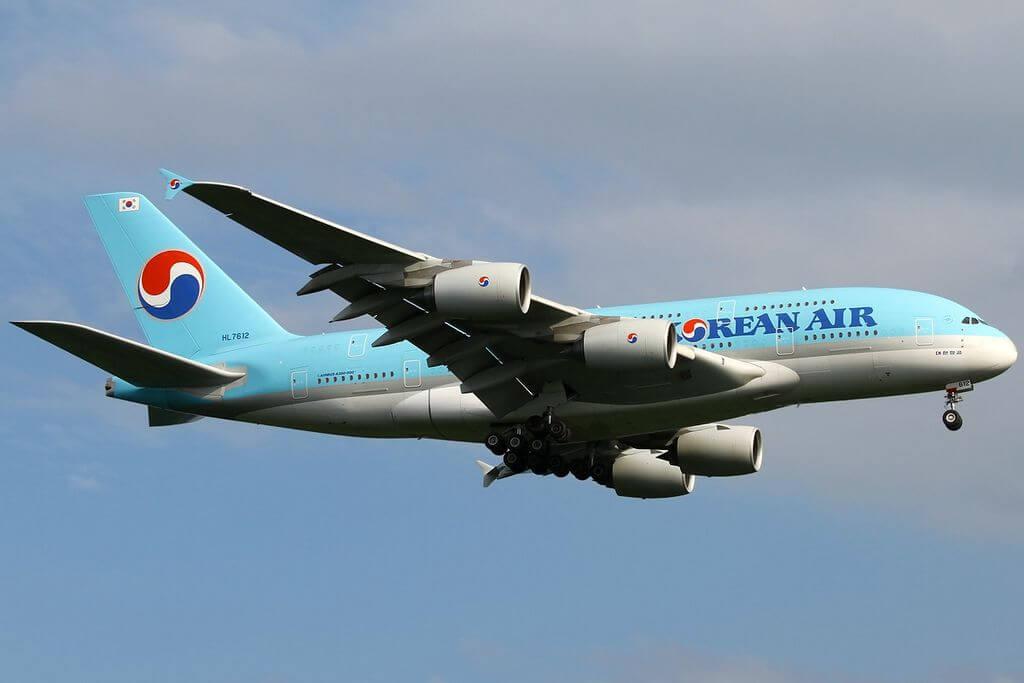 Airbus A380 861 HL7612 Korean Air at Frankfurt Airport