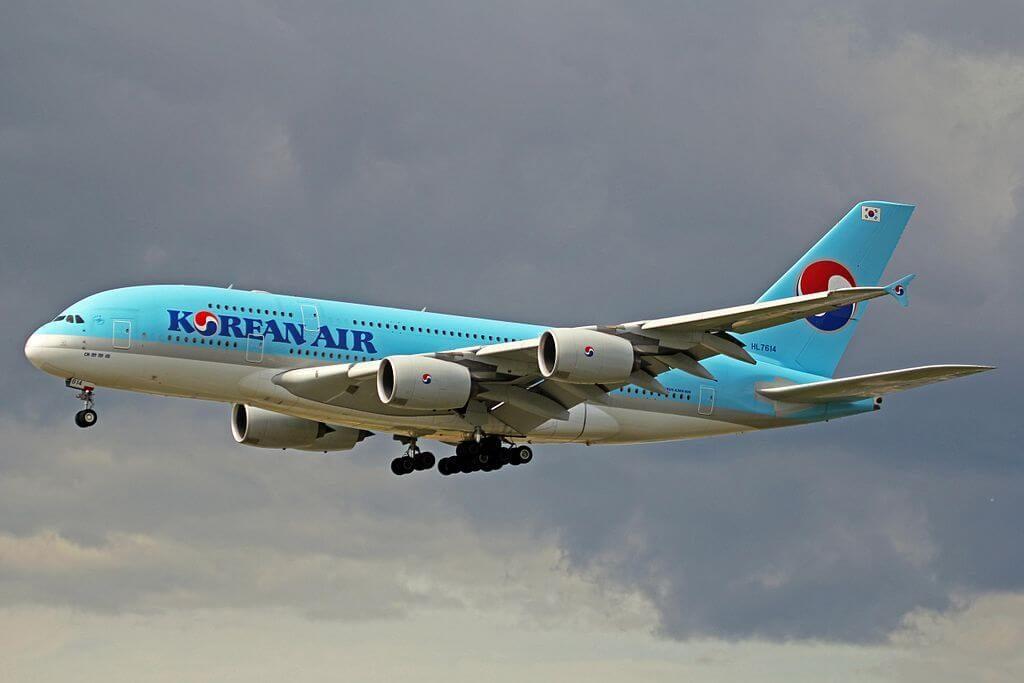 Airbus A380 861 HL7614 Korean Air at Frankfurt Airport