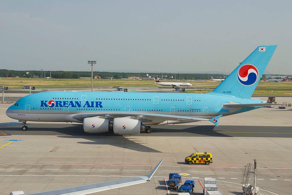 Airbus A380 861 HL7615 Korean Air at Frankfurt Airport
