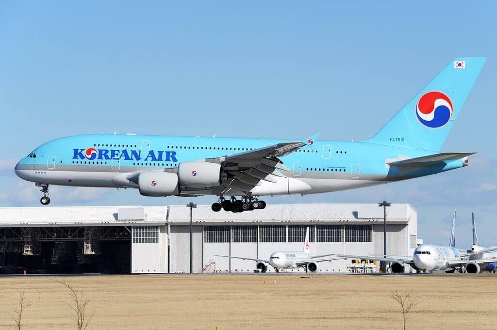Airbus A380 861 HL7619 Korean Air at Narita International Airport