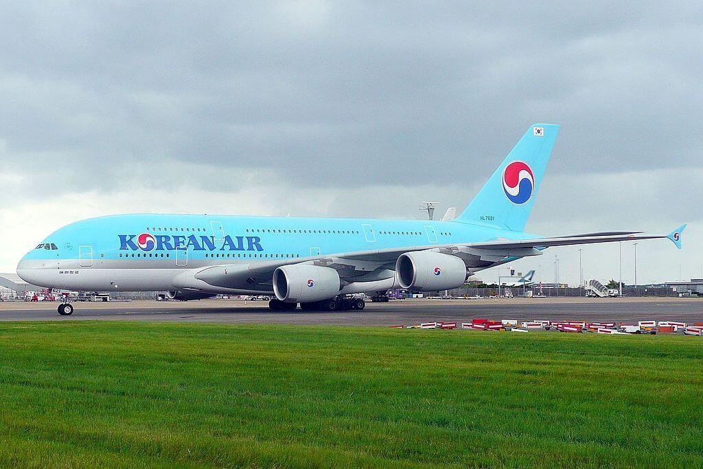 Airbus A380 861 HL7621 Korean Air at London Heathrow Airport