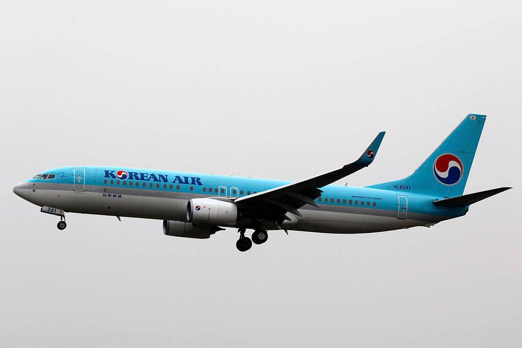 Boeing 737 8BKWL HL8241 Korean Air at Qingdao Liuting International Airport