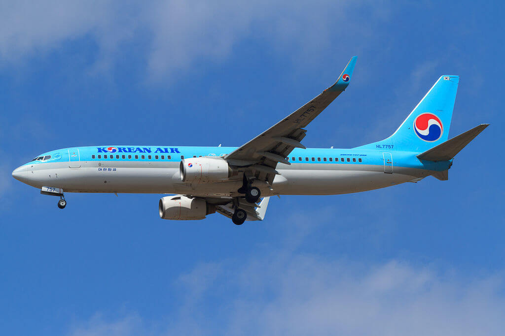 Boeing 737 8GQWL HL7757 Korean Air at Vladivostok Airport