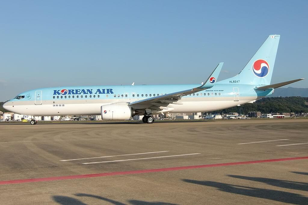 Boeing 737 8SHWL HL8247 Korean Air at Fukuoka Airport