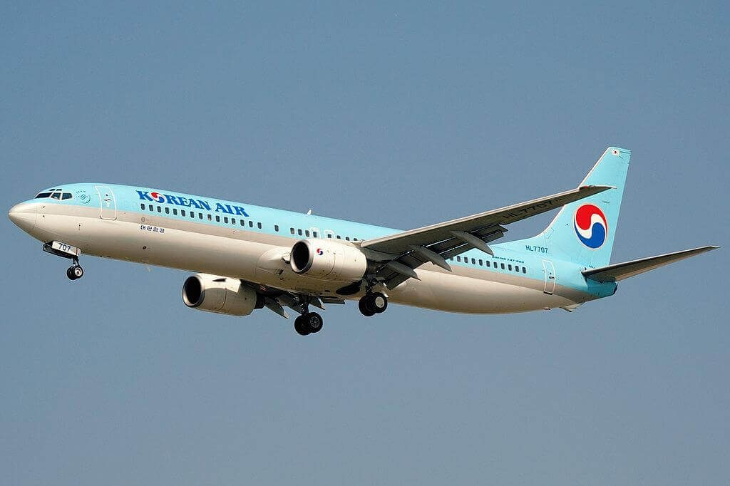 Boeing 737 9B5 HL7707 Korean Air at Shanghai Pudong International Airport