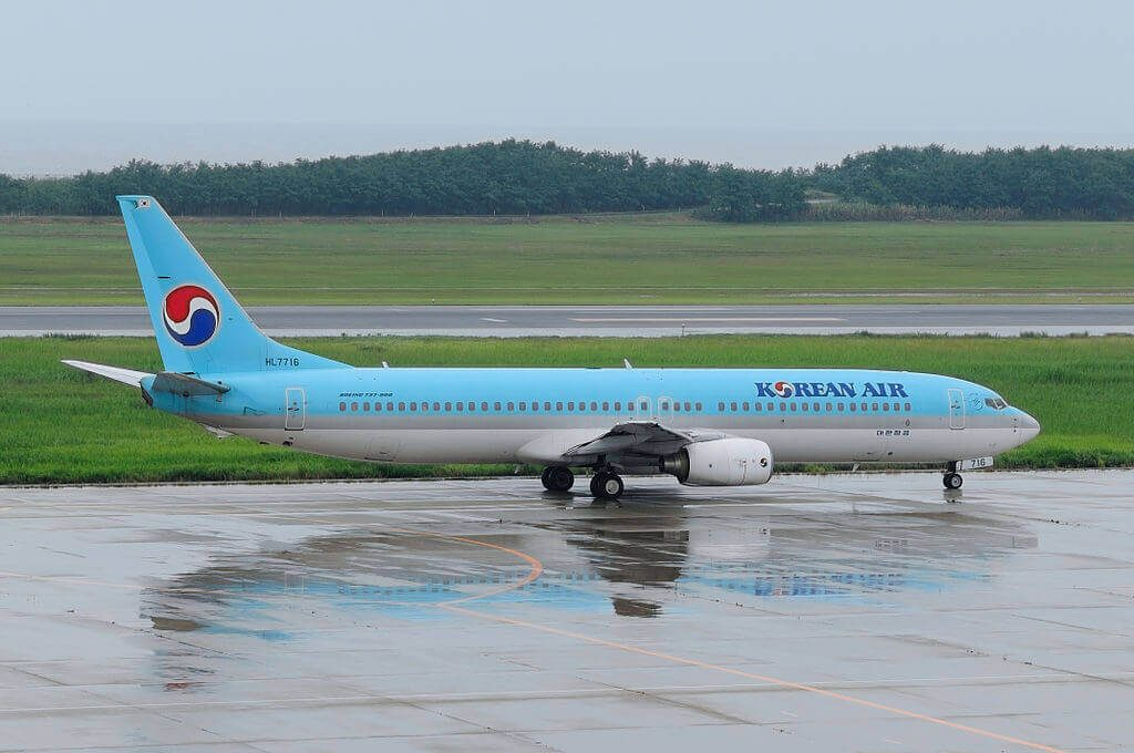 Boeing 737 9B5 HL7716 Korean Air aircraft at Niigata Airport