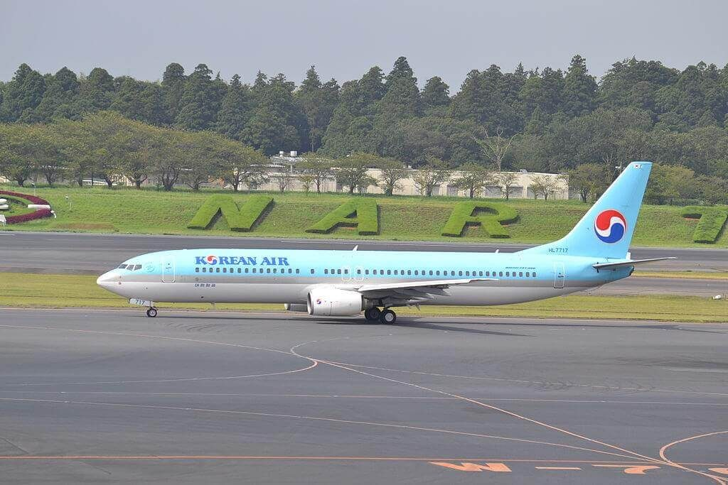 Boeing 737 9B5 HL7717 Korean Air at Narita International Airport