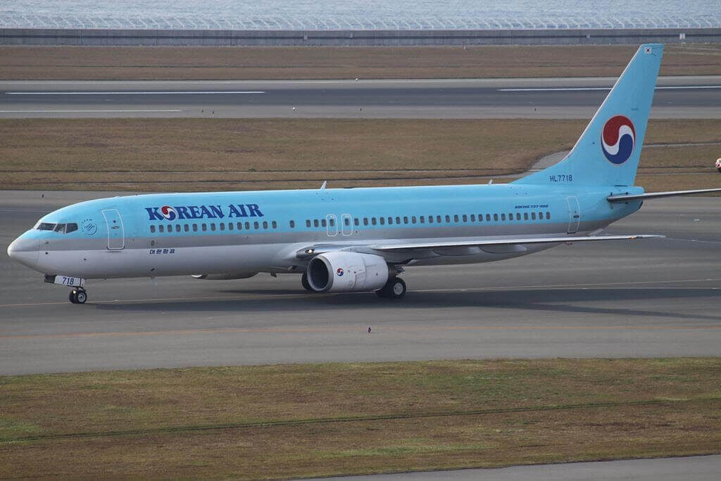 Boeing 737 9B5 HL7718 Korean Air at Chubu International Airport
