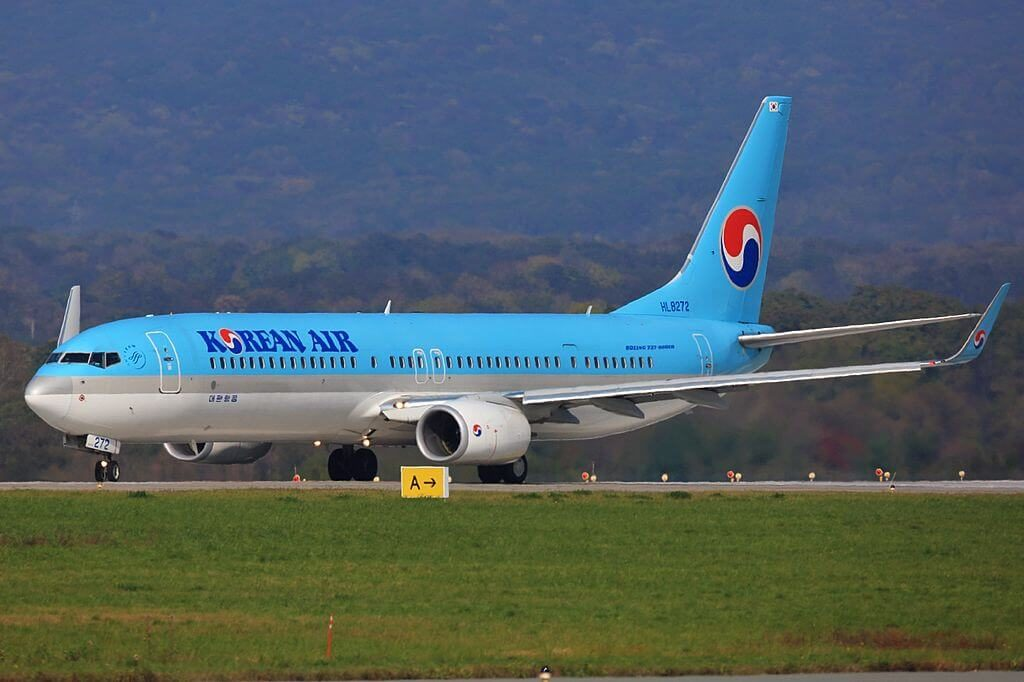 Boeing 737 9B5ERWL HL8272 Korean Air at Vladivostok Airport