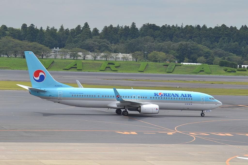 Boeing 737 9B5ERWL HL8273 Korean Air at Narita International Airport