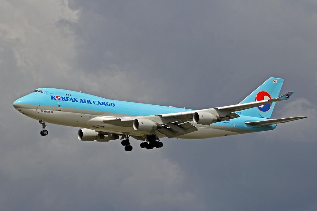 Boeing 747 4B5FER Korean Air Cargo HL7602