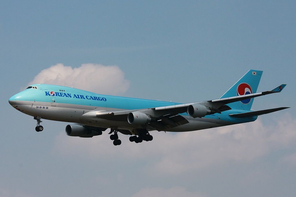 Boeing 747 4B5FER Korean Air Cargo HL7605 at Frankfurt Airport