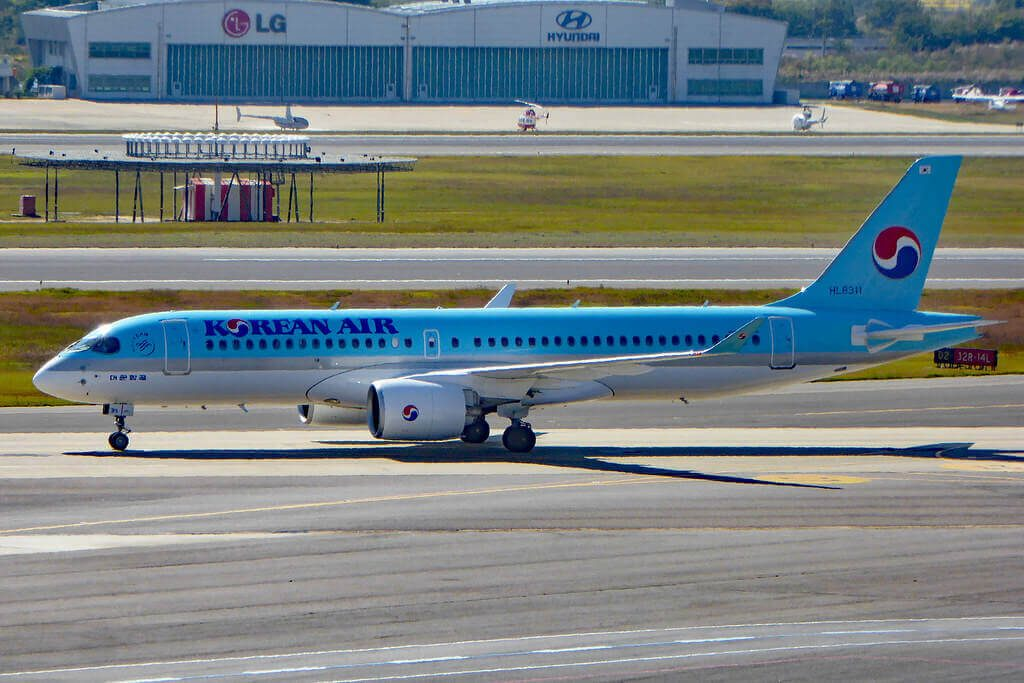 Bombardier CSeries CS300 BD 500 1A11 HL8311 Korean Air