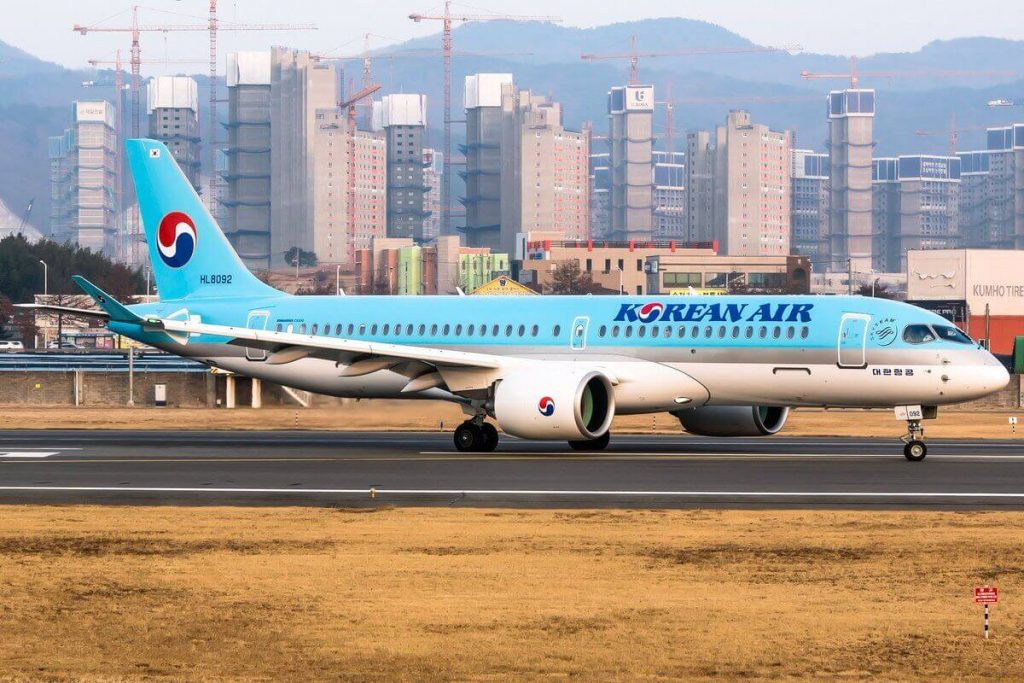 Bombardier CSeries CS300 BD 500 1A11 Korean Air HL8092
