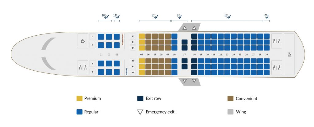 Copa Airlines Boeing 737 700 Seating Plan
