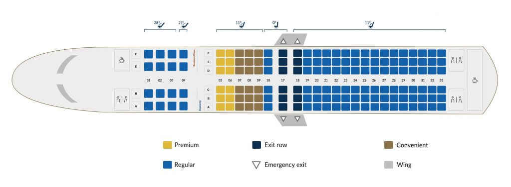 Copa Airlines Boeing 737 800 B Seating Plan
