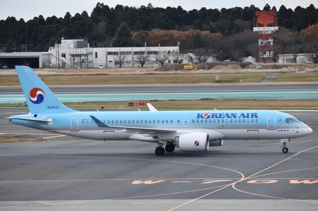 Korean Air Airbus A220 300 HL8312